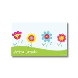 p4908 - Tarjetas de presentación - Flores