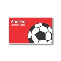 p6210 rojo - Tarjetas de presentación - Fútbol