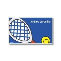 Label cards - tennis
