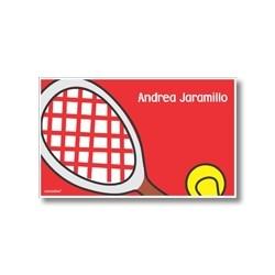 p6405 rojo - Tarjetas de presentación - Tenis