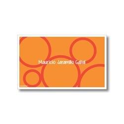 p0001 naranja - Tarjetas de presentación - Círculos