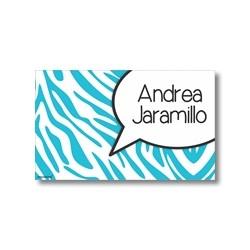 p0006 azul - Tarjetas de presentación - Animal Print