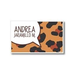 p0009 - Tarjetas de presentación - Animal Print