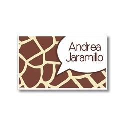 p0201 - Tarjetas de presentación - Animal Print