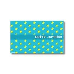 p0208 azul - Tarjetas de presentación - Estrellas