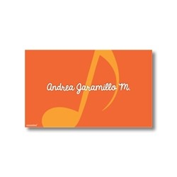 Label cards - music