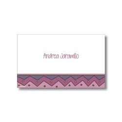 p0810 violeta - Tarjetas de presentación - Figuras