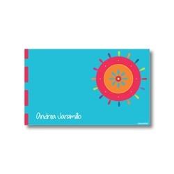 p2503 azul - Tarjetas de presentación - Flores