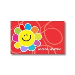 p3504 rojo - Tarjetas de presentación - Flores