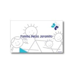 p3809 azul - Tarjetas de presentación - Familia