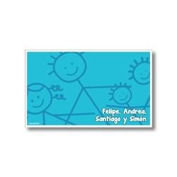 p3810 azul - Tarjetas de presentación - Familia