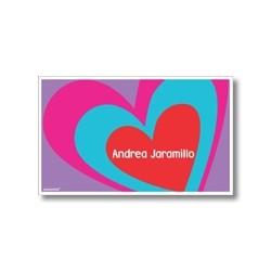 p4106 - Tarjetas de presentación - Corazones
