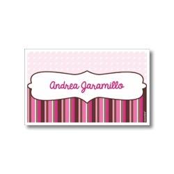 p5306 rosado - Tarjetas de presentación - Rayas
