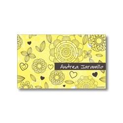 p7302 amarillo Tarjetas de presentación - Flores
