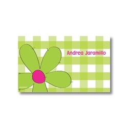 p1904 verde - Tarjetas de presentación - Flores