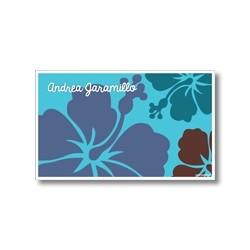 p6509 azul - Tarjetas de presentación - Flores