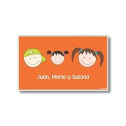 p6206 naranja - Tarjetas de presentación - Familia