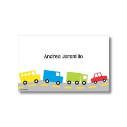 Label cards - cars
