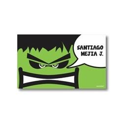 Label cards - Superheros
