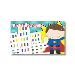 Label cards - Superheros