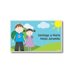 p8404 - Tarjetas de presentación - Hermanitos