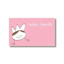 p7501 rosado - Tarjetas de presentación - Princesas