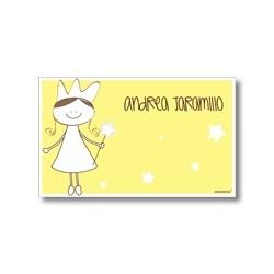 p7410 amarillo - Tarjetas de presentación - Princesas