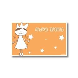 p7410 naranja - Tarjetas de presentación - Princesas