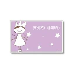 p7410 violeta - Tarjetas de presentación - Princesas