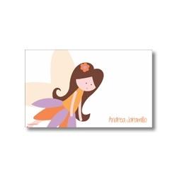 p7209 naranja - Tarjetas de presentación - Hadas