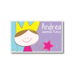 Label cards - princess