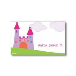 Label cards - Castle