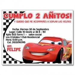 c0057 - Invitaciones de cumpleaños - Cars