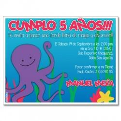 Invitaciones de cumpleaños - Mar