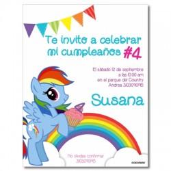 c0296 - Invitaciones de cumpleaños - My little Ponny