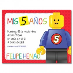 Invitaciones de cumpleaños - Lego