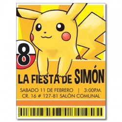 Invitaciones de cumpleaños - Pokemon