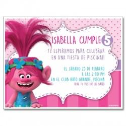 Invitaciones de cumpleaños - Trolls