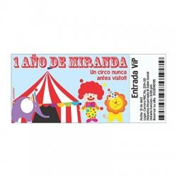 c0371 - Invitaciones de cumpleaños - Circo