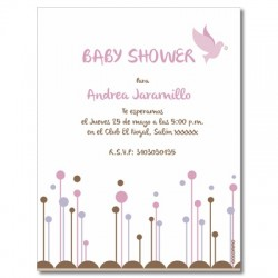 b0007 S violeta - Invitaciones - Baby Shower