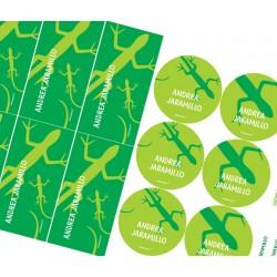 KE0053 Verde - Kit Escolar - Lagartijas