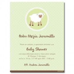 b0010 S Verde - Invitaciones - baby shower