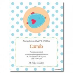 b0015 S Azul- Invitaciones - Baby Shower