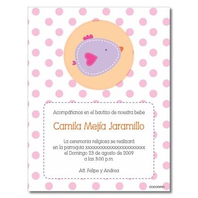 B0015 S Rosado   Invitaciones   Baby Shower