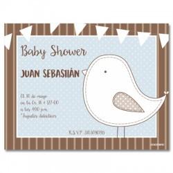 b0036 Azul S - Invitaciones - Baby Shower