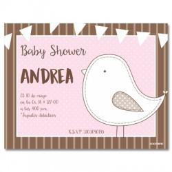 b0036 S Rosado - Invitaciones - Baby Shower
