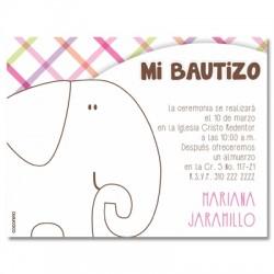 b0056 B Rosado - Invitaciones - Bautizo