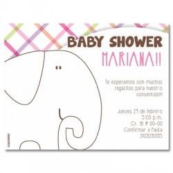 b0056 S rosado - Invitaciones - Baby Shower