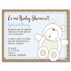 b0035 S Azul - Invitaciones - Baby Shower