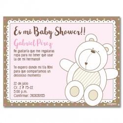 b0035 S Rosado - Invitaciones - Baby Shower
